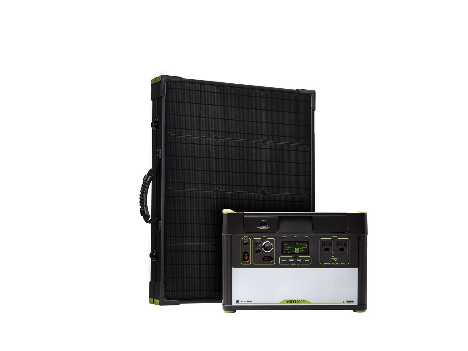 Goal Zero Yeti 1000 Lithium Solar Generator Kit With Boulder 100 Watt Briefcase Solar Panel