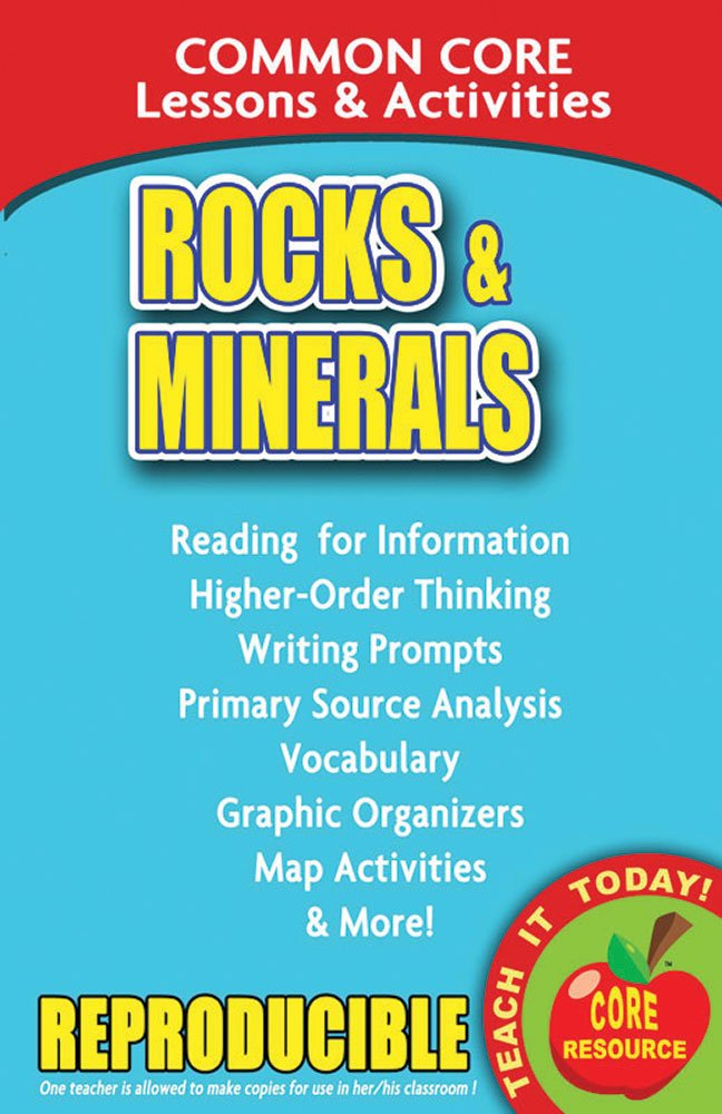Read Online Rocks and Minerals – Common Core Lessons and Activities pdf epub