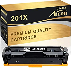 Arcon Compatible Toner Cartridge Replacement for HP 201X CF400X 201A CF400A HP m252dw m277dw Toner HP Color LaserJet Pro MFP M277dw M277c6 M277n M274n M277 M252dw M252n 252dw Printer Toner (1PK,Black)