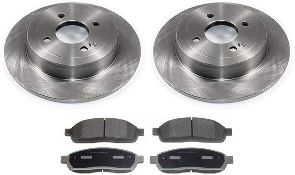 Front Disc Brake Rotors And Semi-Metallic Pads Kit For Hyundai Accent Kia Rio