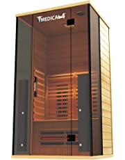 Medical Sauna 4 Full Spectrum | Home Sauna - 2 Person Indoor Infrared Sauna Spa | Oxygen Ionizer, Chromatic Light Therapy, Hot Yoga | Audio System | Full Spectrum, Carbon Heaters | Luxury Sauna