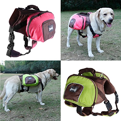 MagiDeal Dog Foldable Backpack Waterproof Portable Travel Outdoor Bag Pack Green M by MagiDeal (Image #5)