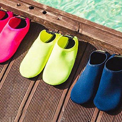 Chaussettes D'eau Piscine Barefoot Yoga Vert De Chaussures Plage Fluorescent Pour Bain Beiguoxia Aqua Surf Xqw0W5R