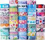 48 Rolls Washi Tape Set, Decorative Tape Japanese style design, Great Glitter washi tape For Planners, Arts, Crafts, DIY.