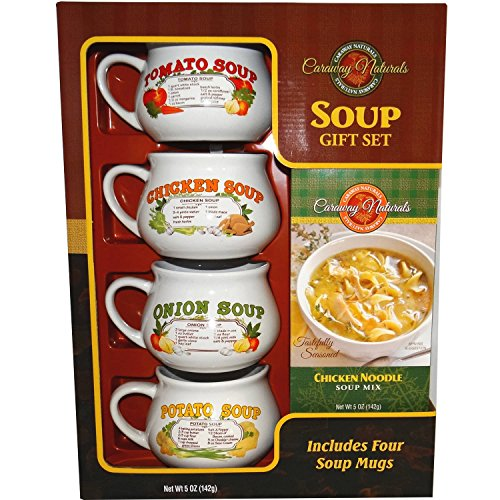Caraway Natural Soup Gift Set with Mugs (Soup Gifts)