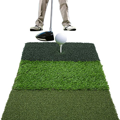 COVASA Mat Attack Tri-Turf Portable Golf Hitting Mat (25in x 16in)
