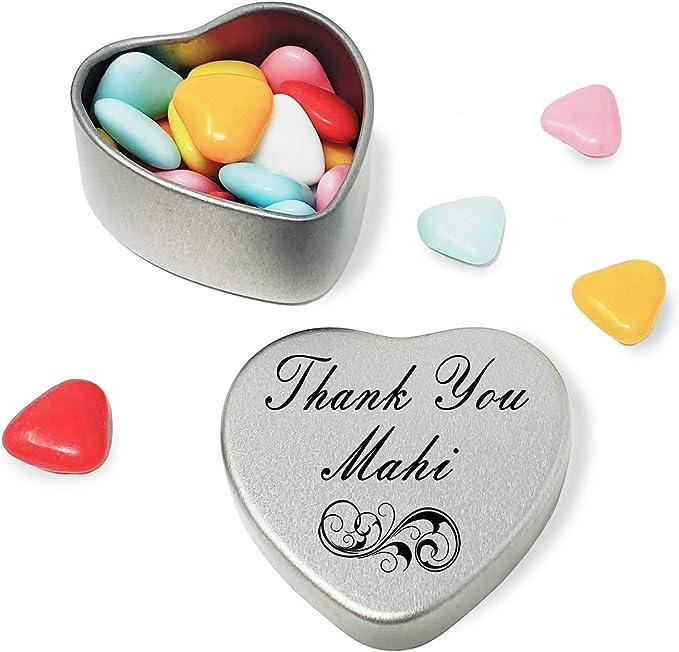Say Thank You Faith With A Mini Heart Tin Gift Present with Chocolates