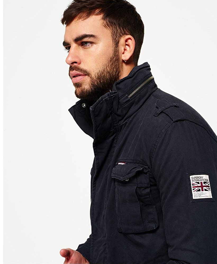 e5090120a Superdry Mens Rookie Heavy Weather Field Jacket Midnight at Amazon ...