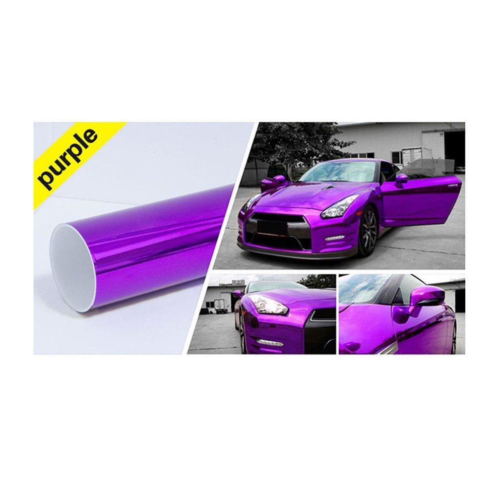 on sale Hoho Violet Change de couleur chrome métallique film de vinyle autocollant Wrap Voiture 152,4x 50,8cm