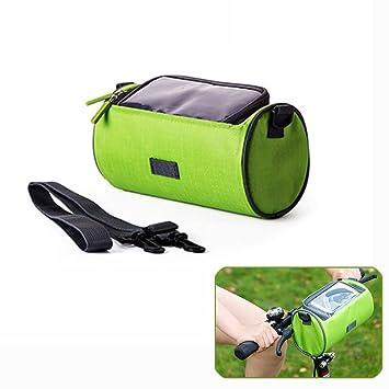 Candora ™ bicicleta plegable bicicleta cesta delantera bolsa de manillar teléfono mochila transparente resistente al agua