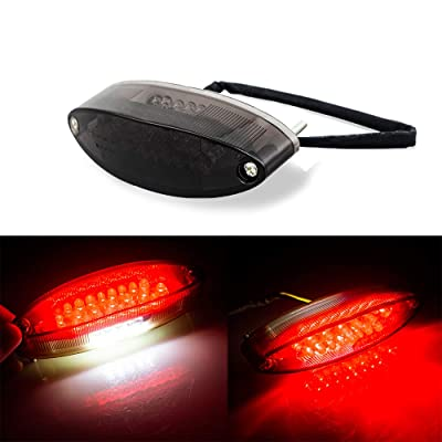 Evomosa Motorcycle Taillight Universal Brake Stop Light ATV Tail Light for Harley Honda BMW Suzuki: Automotive