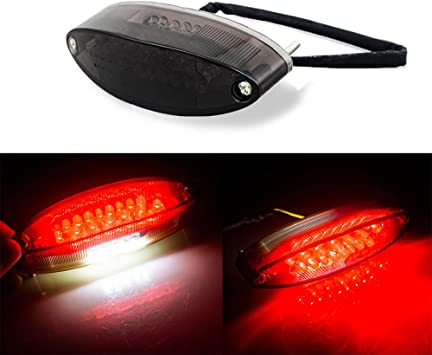 Red 5 LED Universal Motorcycle Tail Light Kit Rear Brake Stop Turn Signal 12V