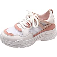 RCTO Zapatillas De Correr para Mujer Zapatillas De Deporte De Malla Transpirable Zapatillas De Deporte con Cordones De Mujer