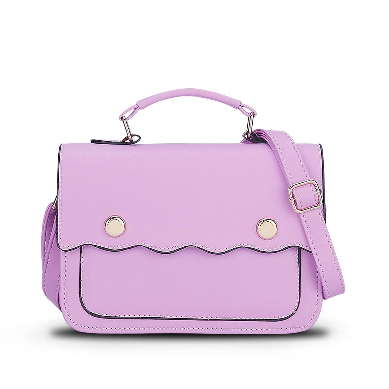 bag4youレディースミニクロスボディ財布バッグ B01H8389YK  パープル