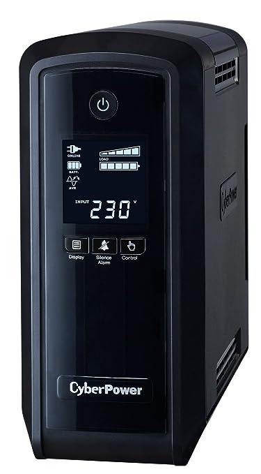 54 opinioni per CyberPower CP900EPFCLCD Gruppo di continuità (UPS) compatto, 540 W, Nero