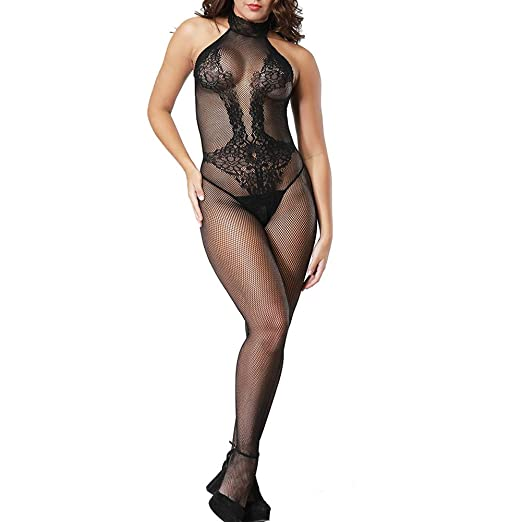 95919b2df Amazon.com  VivilY Womens Sexy Lingerie Stockings Fishnet Babydoll  Bodysuits net Tights  Clothing