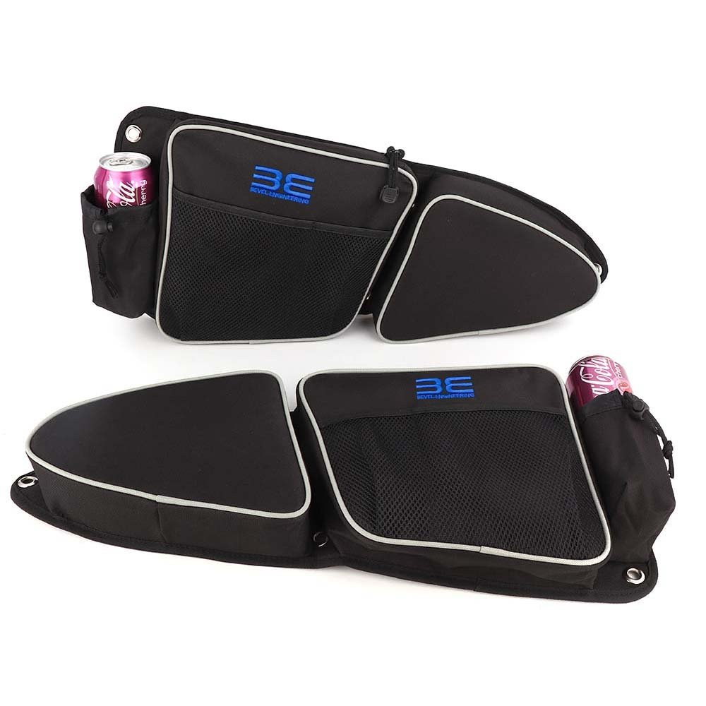 RZR Side Door Bags for Polaris RZR XP 1000 900XC S900 Front Passenger And Driver Side Storage Bag with Knee Protection Pad Bevel Engineering