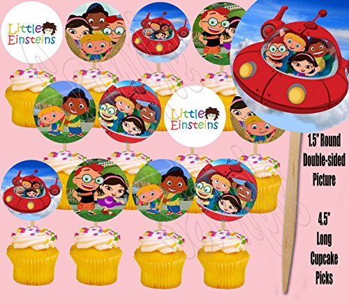 (Little Einstein Double-Sided Cupcake Picks Cake Toppers -12 pcs)
