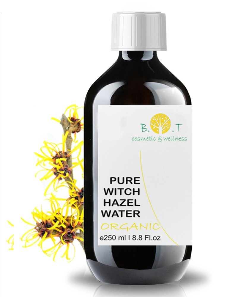 B.O.T Cosmetic & Wellness Organic Hydrolat Witch Hazel - Hamamelis 250ml- 8.8 Fl oz Floral Water 100% Pure Made in France