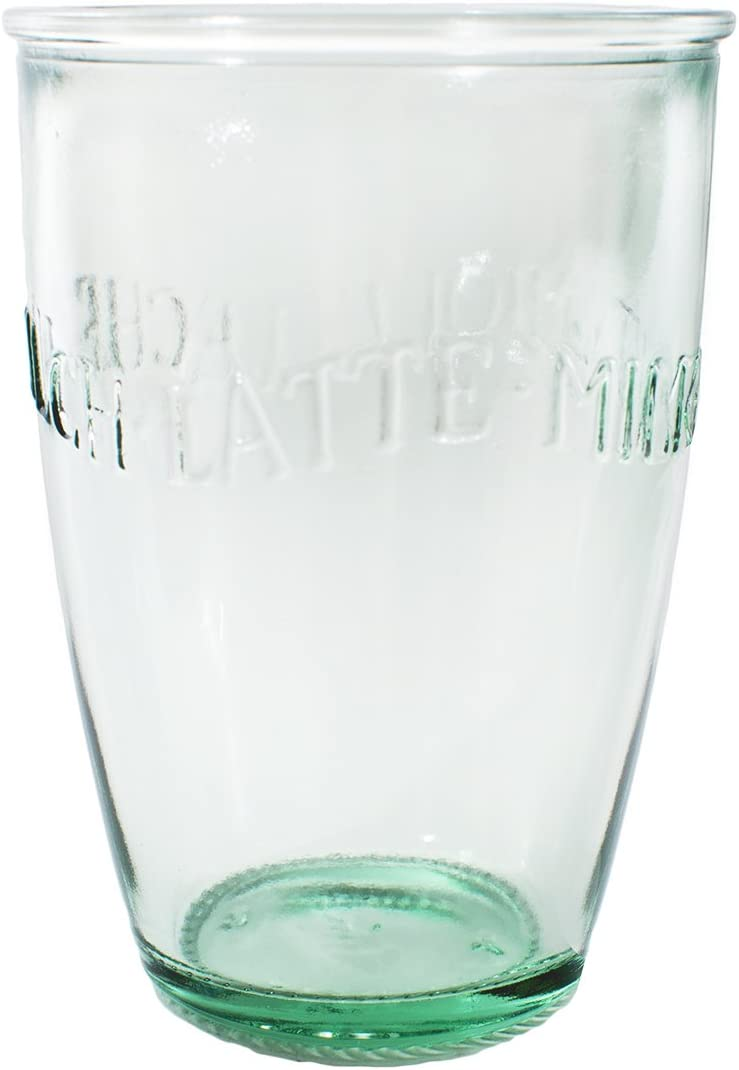 Amazon.com: AMICI Euro Leche vidrio, 13 oz – Conjunto de 6 ...