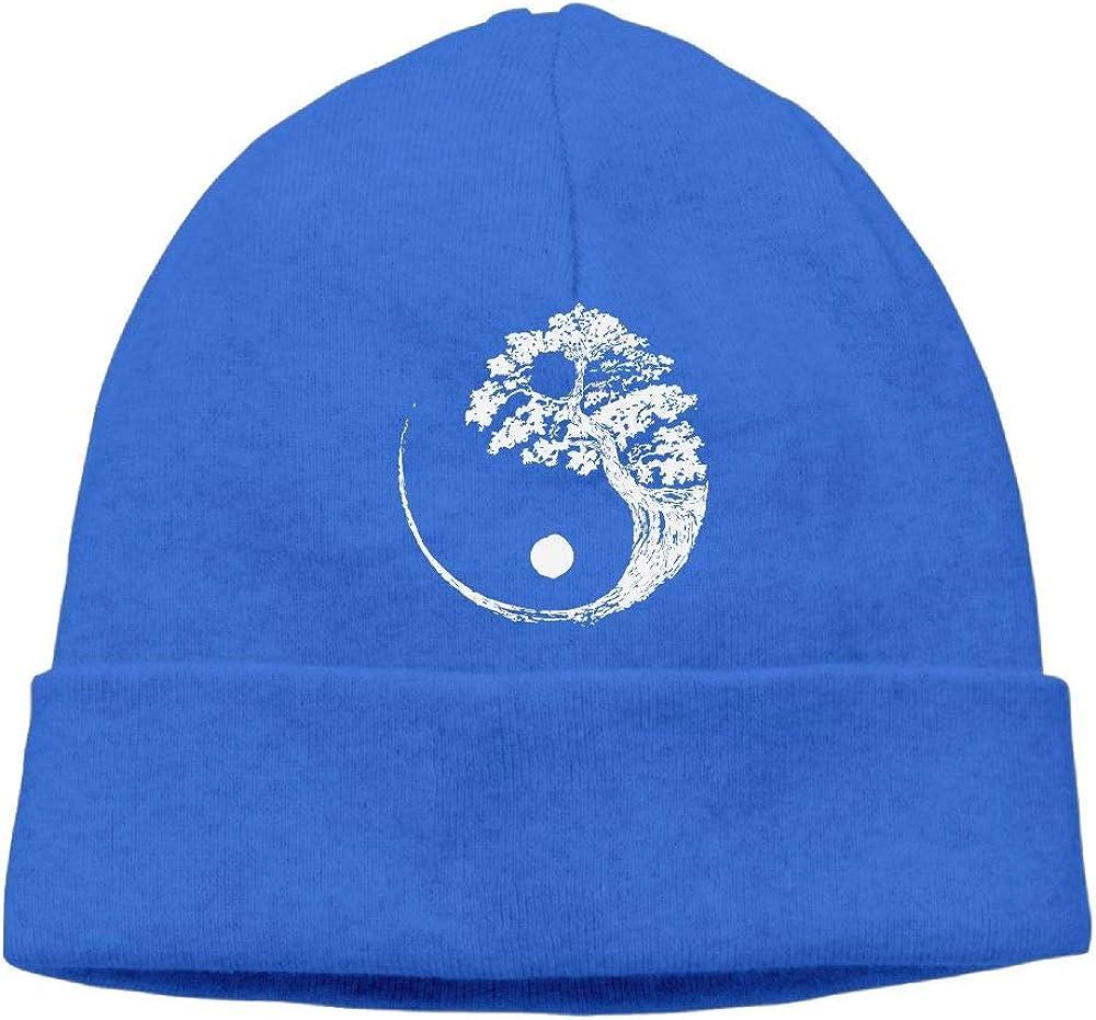 Men//Women Yin Yang Bonsai Tree Outdoor Fashion Beanies Hat Soft Winter Skull Caps