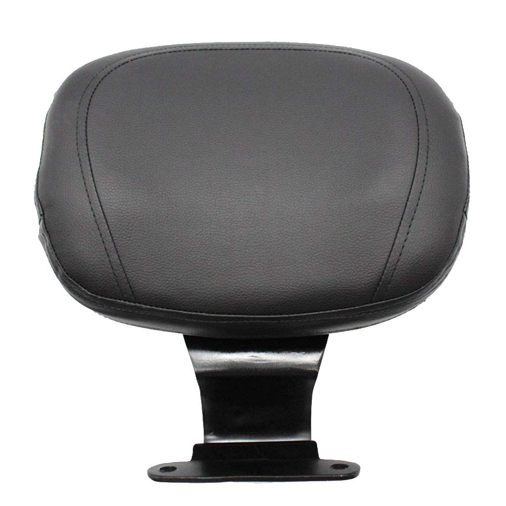 Flameer Motorcycle Driver Rider Seat Backrest Back Rest Pad for Honda VTX1300 - Black