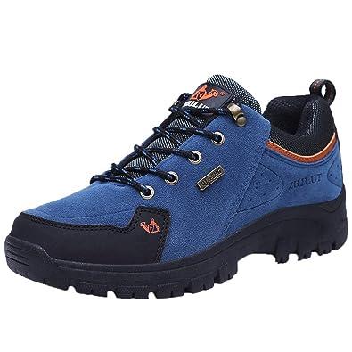 Logobeing Hombre Zapatillas de Senderismo Monta Calzado Outlet Seguridad La Zapatilla Trekking al Aire Libre Casuales
