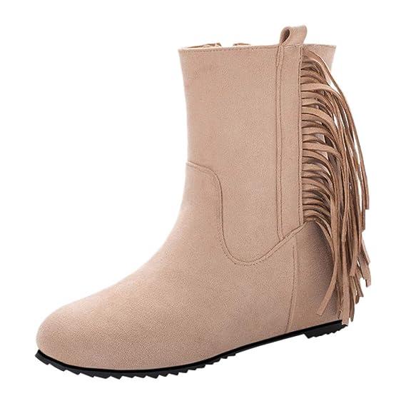 Luckycat Botas de Nieve Zapatos para Invierno Mujer Piel ...