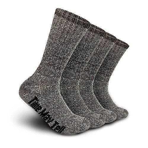 2 Pairs Wool Thermal Thick Hiking Cushion Winter Crew Socks for Men&Women