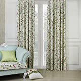 """IYUEGO Country Petals and Leaves Cotton Eco-friendly Grommet Top Lining Blackout Curtains Drapes With Multi Size Custom 84"""" W x63"""" L (One Panel)"""