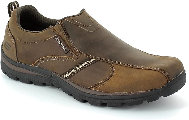 Cadera Ciudadano Exención  Skechers 64590 MANLON SUPERIO Brown Mens Casual Shoes: Amazon.co.uk: Shoes  & Bags