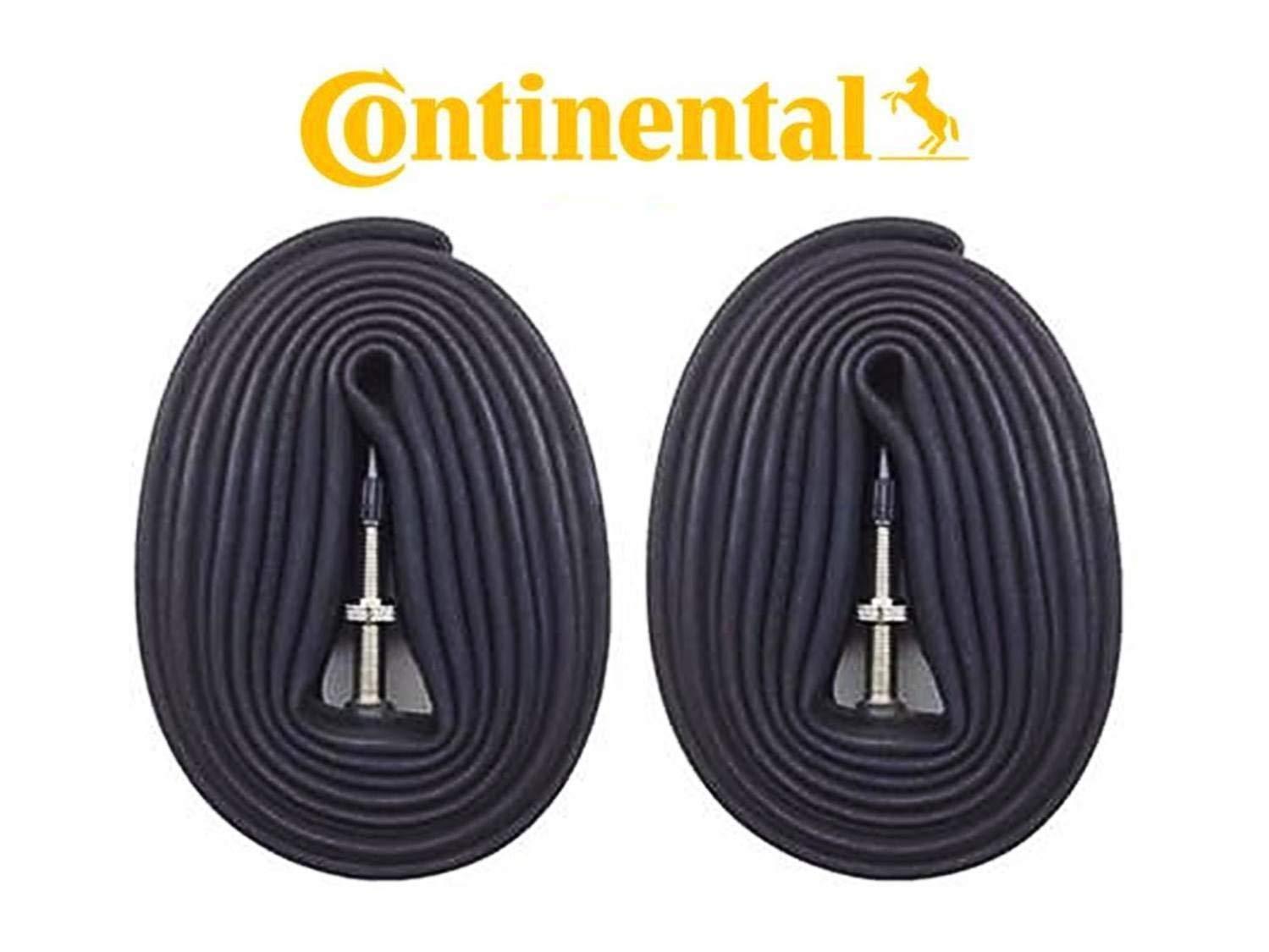"""Continental New 2 Pack 26"""", 27.5"""", 29"""" Presta Valve MTB Bike Inner Tubes - Bulk"""