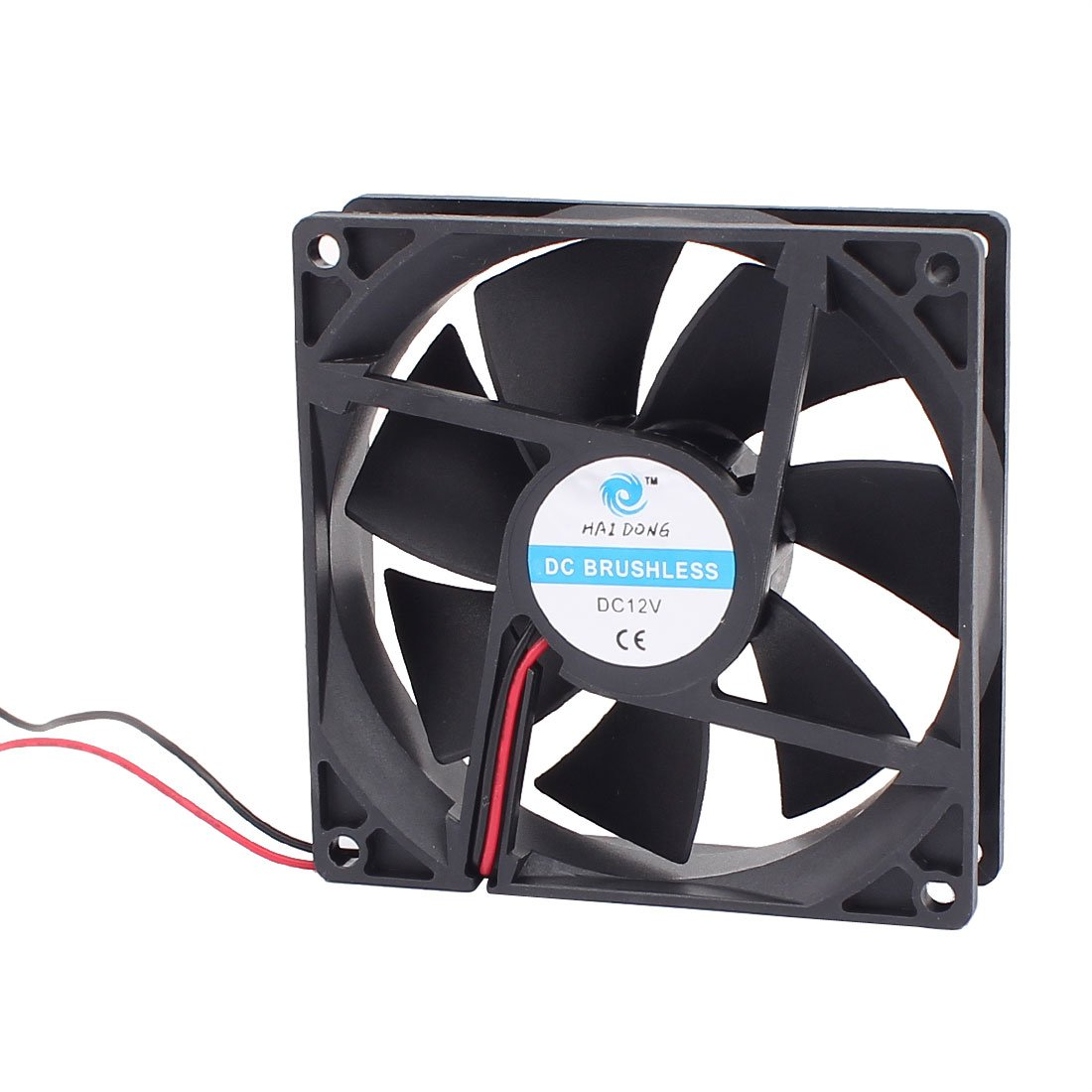 uxcell a16030800ux1099 DC 12V 90mmx90mmx 25mm 7 Vanes Cooling Cooler Fan w Metal Finger Guard