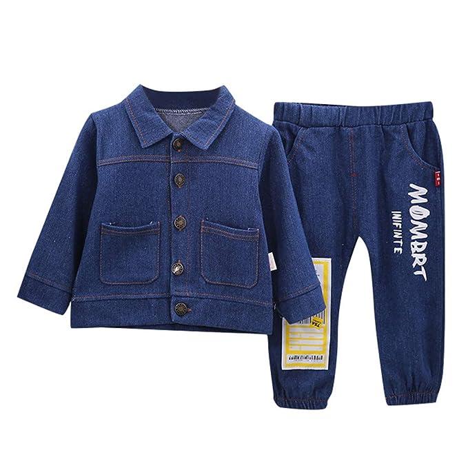 Lazzboy Ropa para niños botón Denim Tie-Dye Chaqueta Abrigo ...