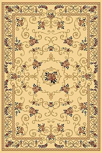 (Rugs America New Vision Area Rug, 2-Feet by 2-Feet 11-Inch, Souvanerie Cream)