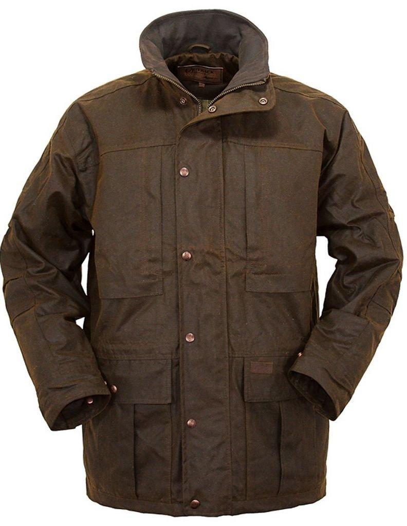 Outback Trading Co Men's CO. Deer Hunter Oilskin Jacket Bronze Small
