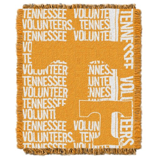 The Northwest Company Officially Licensed NCAA Tennessee Volunteers Double Play Jacquard Throw Blanket, 48
