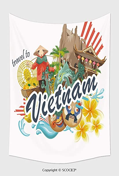 Amazon Home Decor Tapestry Wall Hanging Travel To Vietnam Set