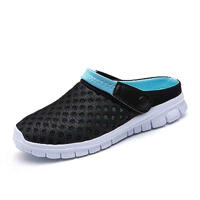 QISHENG Men's Women's Garden Clog Shoes Fashion Mesh Sandals Lightweight Quick Drying Walking Slippers | Mules & Clogs