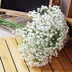 Lot 6pc Silk Artificial Baby Breath Gypsophila Flower Wedding Home Decor Gift by MSTYLE