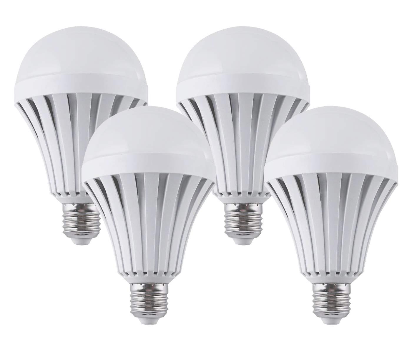 CTKcom LED Light Bulbs 5W(4 Pack)- Emergency Lamps Household Lighting Bulbs Human Body Induction,Saving Energy Intelligent Light Rechargable Electricity 60W Equivalent 6000k White Bulb120V E26/E27