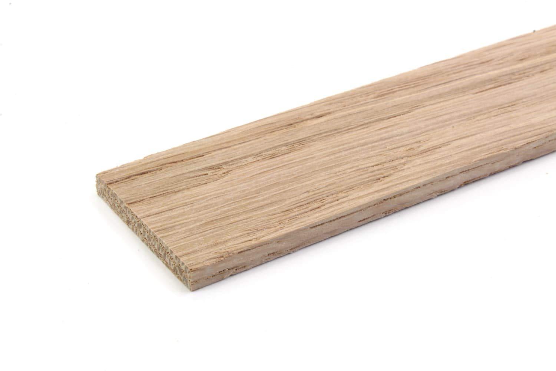 List/ón de madera de roble para pared Marr/ón wodewa 1 m, 30 x 4 mm