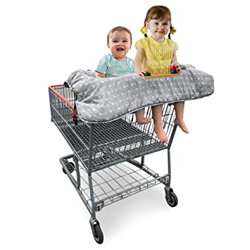 amazon com double shopping cart cover for twins or baby siblings