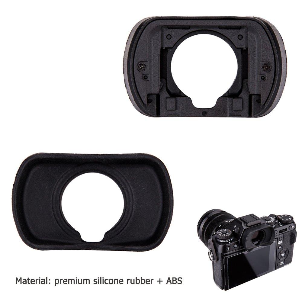 JJC Soft Silicone Eyecup Eyepiece for Nikon D7500 Camera Replaces Nikon DK-28 Eyepiece 2pcs Per Package