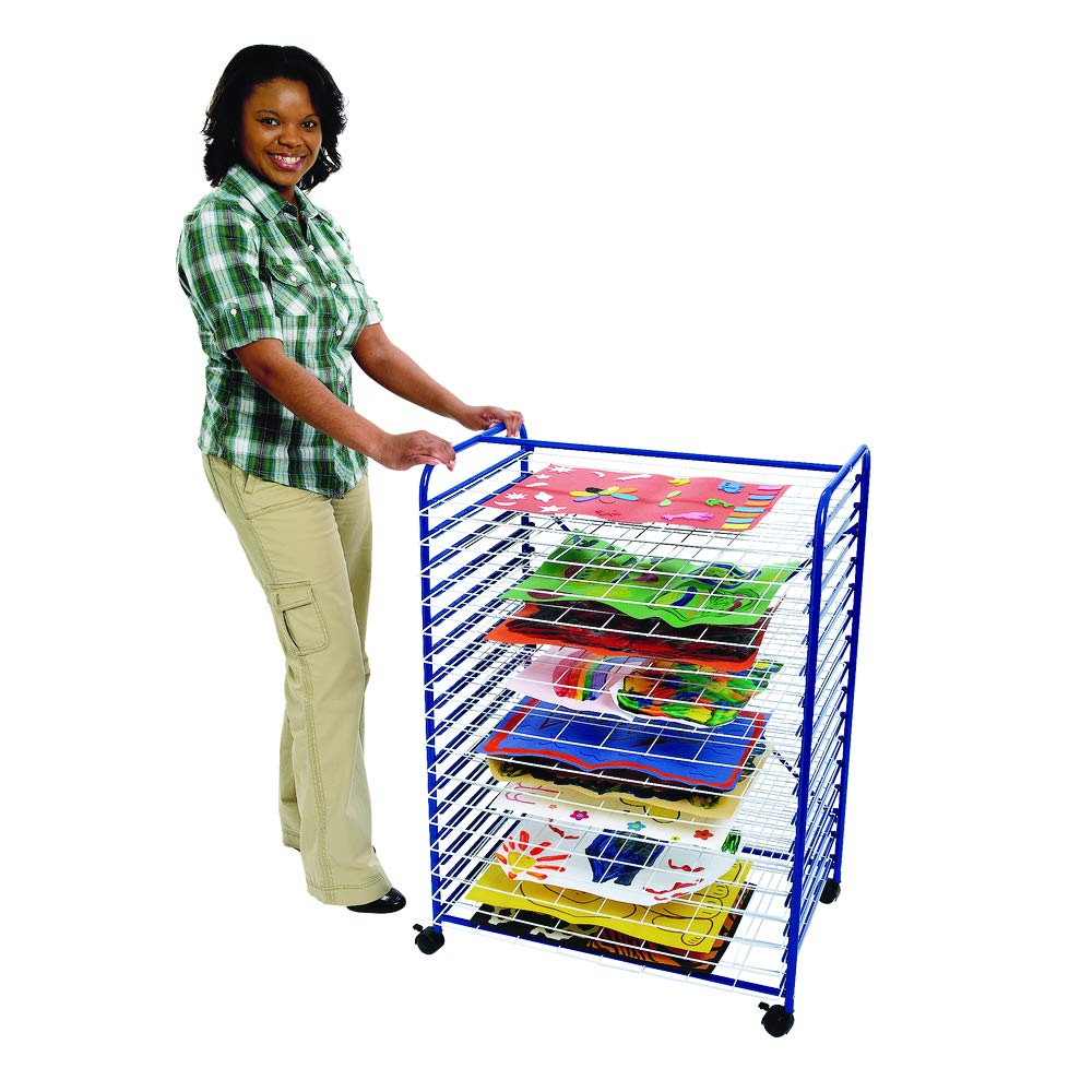 Colorations Mobile Art Drying Rack Sturdy Lightweight 36 1/2''H x 26 1/2''W x 17 1/2''D (Item # MOBRACK) by Colorations
