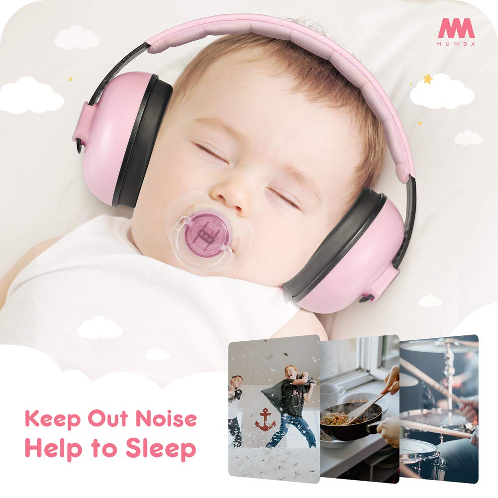Baby Ear Protection Noise Cancelling Headphones for Babies and Toddlers - Mumba Baby Earmuffs - Ages 3-24+ Months - for Sleeping, Studying, Airplane, Concerts, Movie, Theater, Fireworks by Mumba (Image #4)