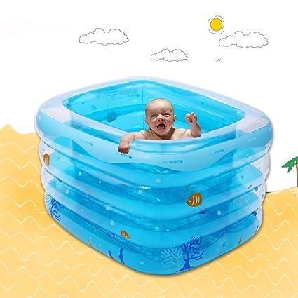 Amazon.com: LJ bebé inflable piscina rectangular grueso ...