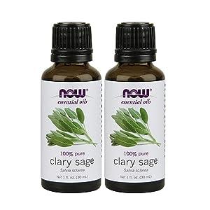 NOW Foods Clary Sage Oil, 2 oz (1 oz X 2)