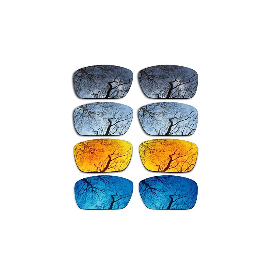 ToughAsNails Set of 4 Polarized Replacement Lenses for Oakley Fuel Cell Pack BSFM4