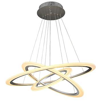 Gut ZWL Led Ring Kronleuchter, Kreatives Restaurant Wohnzimmer Tisch  Kronleuchter Hochzeit Zimmer Acryl Lampen Weiß Warm